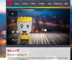 Werbung im TV - Volle Seite