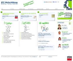 Relaunch der Webseite www.btc.at