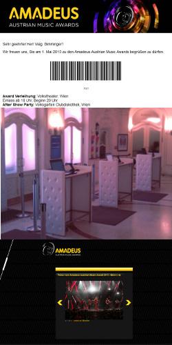 Eventbetreuung Amadeus Awards 2013