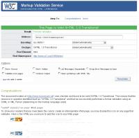 Screenshot W3C Validator